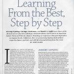 Jeremy Lipking in American Artist Magazine Spring 2011 issue