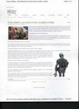 Christopher Slatoff featured in Italian Newspaper AREZZO CULTURA September 2, 2012