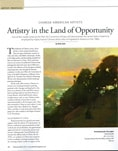 Jove Wang in Plein Air Magazine March 2013 issue
