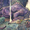 """American Legacy Fine Arts presents """"Fafnir Sleeps"""" a painting by William Stout."""