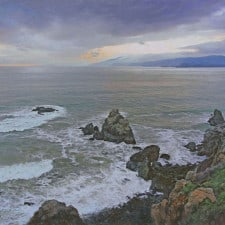 "American Legacy Fine Arts presents ""Golden Gate Strait, San Francisco"" a painting by Alexander V. Orlov."