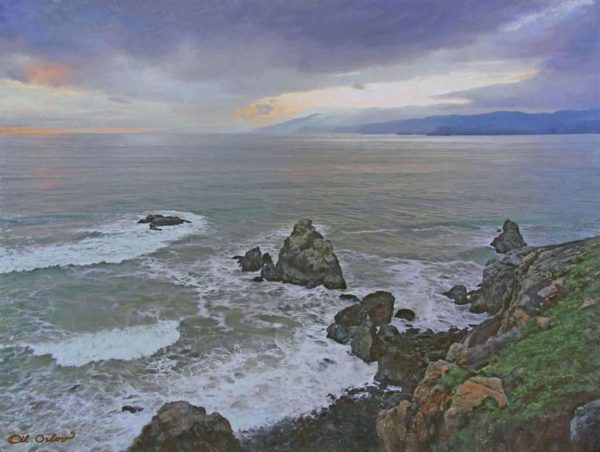 "American Legacy Fine Arts presents ""Golden Gate Strait, San Francisco"" a painting by Alexander V. Orlov."