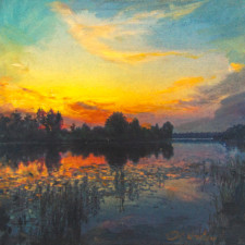 """American Legacy Fine Arts presents """"Late Summer"""" a painting by Alexander V. Orlov."""