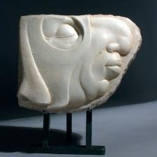 "Béla Bácsi - Masked, Italian Marble 13"" x 11"" x 4"""