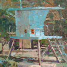"American Legacy Fine Arts presents ""Closed for the Season"" a painting by David Gallup."
