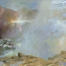 "American Legacy Fine Arts presents ""Light Through the Veil; Leo Carrillo State Beach"" a painting by David Gallup."