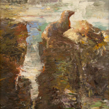 "American Legacy Fine Arts presents ""Sea Lion's Perch"" a painting by David Gallup."