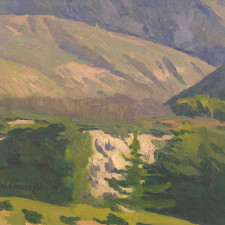 "American Legacy Fine Arts presents ""Canyon of the Birds; San Gabriel Mountains"" a painting by Eric Merrell."