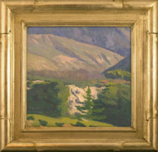"""American Legacy Fine Arts presents """"Canyon of the Birds; San Gabriel Mountains"""" a painting by Eric Merrell."""