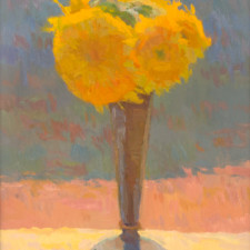 "American Legacy Fine Arts presents ""Backlit Sunflowers"" a painting by Eric Merrell."