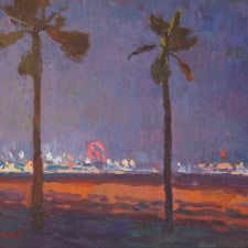 "American Legacy Fine Arts presents ""Santa Monica Pier Nocturne"" a painting by Eric Merrell."