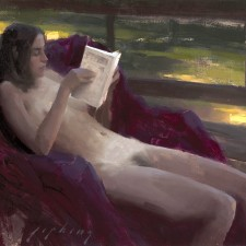 "American Legacy Fine Arts presents ""Tuesday Morning"" a painting by Jeremy Lipking."