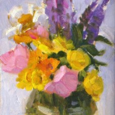 "American Legacy Fine Arts presents ""First Summer Bouquet"" a painting by Jean LeGassick."
