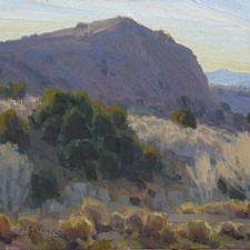 "American Legacy Fine Arts presents ""Brunswick Bluffs"" a painting by Jean LeGassick."