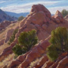 "American Legacy Fine Arts presents ""Steep Comstock Slopes"" a painting by Jean LeGassick."
