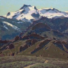 "American Legacy Fine Arts presents ""Warner Mountains Spring"" a painting by Jean LeGassick."