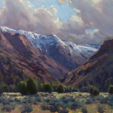 "American Legacy Fine Arts presents ""Clearing Storm, Cedarville California"" a painting by Jean LeGassick."