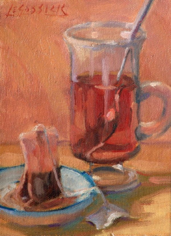 "American Legacy Fine Arts presents ""Tea Break' a painting by Jean LeGassick."