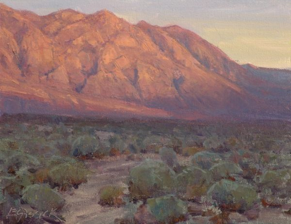 "American Legacy Fine Arts presents ""First Light, Wheeler Crest"" a painting by Jean LeGassick."