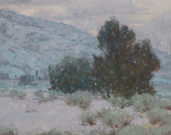 "American Legacy Fine Arts presents ""Winter Quiet"" a painting by Jean LeGassick."