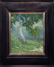 "American Legacy Fine Arts presents ""Down by the Sycamore"" a painting by Jennifer Moses."