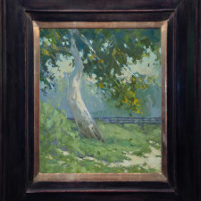 """American Legacy Fine Arts presents """"Down by the Sycamore"""" a painting by Jennifer Moses."""