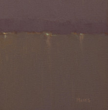 """American Legacy Fine Arts presents """"Nocturne in Blue Violet Grey"""" a painting by Jennifer Moses."""