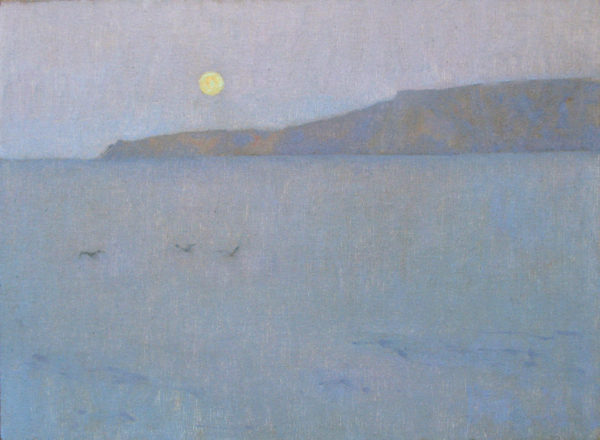 "American Legacy Fine Arts presents ""Moonrise, Santa Rosa Island"" a painting by Jennifer Moses."