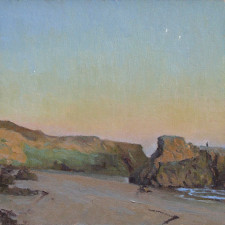 "American Legacy Fine Arts presents ""Dusk, Leo Carillo"" a painting by Jennifer Moses."
