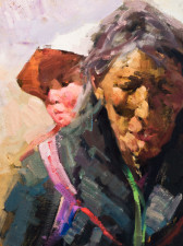 "American Legacy Fine Arts presents ""Pilgramage"" a painting by Jove Wang."