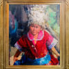 "American Legacy Fine Arts presents ""Young Girl from Guizhou"" a painting by Jove Wang."
