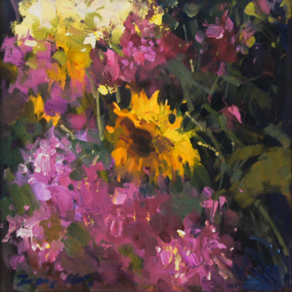 "American Legacy Fine Arts presents ""Jove's Summer Garden"" a painting by Jove Wang."