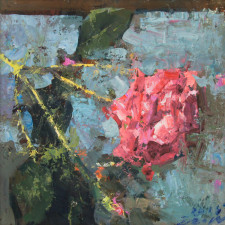 "American Legacy Fine Arts presents ""Quality Rose"" a painting by Jove Wang."