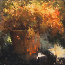 "American Legacy Fine Arts presents ""Autumn Season"" a painting by Jove Wang."