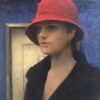 "American Legacy Fine Arts presents ""Girl with a Red Hat"" a painting by Jeremy Lipking."