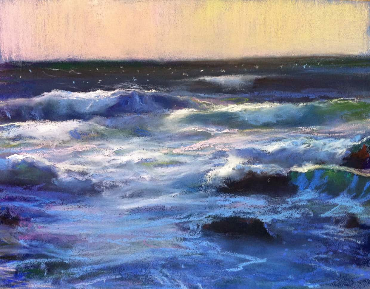 American Legacy Fine Arts Presents Windy Afternoon At Asilomar Beach Monterey A Painting