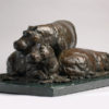"American Legacy Fine Arts presents ""Hippos on the Mara"" a sculpture by Peter Brookes."