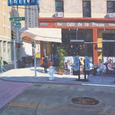 "American Legacy Fine Arts presents ""Service with a Smile; San Francisco"" a painting by Scott W. Prior."