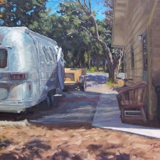 "American Legacy Fine Arts presents ""The Man Shack"" a painting by Scott W. Prior."