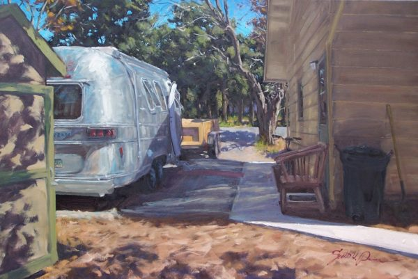 """American Legacy Fine Arts presents """"The Man Shack"""" a painting by Scott W. Prior."""