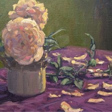 "American Legacy Fine Arts presents ""Pink Petals"" a painting by Scott W. Prior"