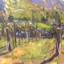 "American Legacy Fine Arts presents ""Sleeping Syrah; San Diego"" a painting by Scott W. Prior."