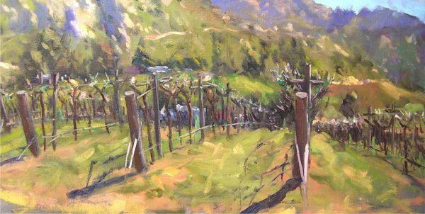"American Legacy Fine Arts presents ""Sleeping Syrah; San Diego"" a painting by Scott W. Prior."