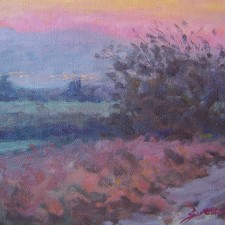 """American Legacy Fine Arts presents """"Heartland Sunset"""" a painting by Scott W. Prior."""