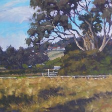 "American Legacy Fine Arts presents ""Where the Cows Roamed, Vista California"" a painting by Scott W. Prior."