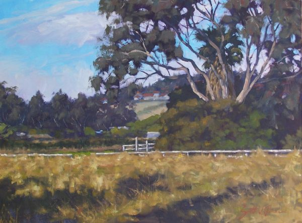 """American Legacy Fine Arts presents """"Where the Cows Roamed, Vista California"""" a painting by Scott W. Prior."""