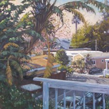 """American Legacy Fine Arts presents """"Double Wides in Paradise"""" a painting by Scott W. Prior."""