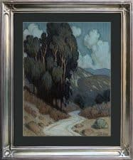 "American Legacy Fine Arts presents ""Moonlit Arroyo Pathway"" a painting by Tim Solliday."