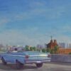 "American Legacy Fine Arts presents ""Ford Falcon"" a painting by Tony Peters."
