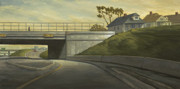 "American Legacy Fine Arts presents ""Freeway Exit"" a painting by Tony Peters."